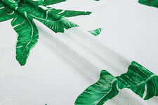 Couture fashion fabric,jacquard floral pattern,printed green leaves,140cm*100cm