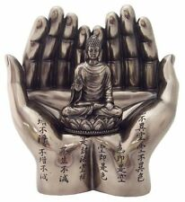 "6"" Sakyamuni Buddha on Palm of Hands Eastern Decor Statue Buddhism"