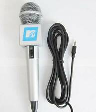 NEW MTV Retro-Style Karaoke Microphone Vintage-Looking Mic w Standard 3.5mm Plug