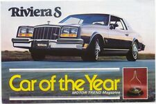 Buick Riviera S Car of the Year original USA issued Postcards Not dated