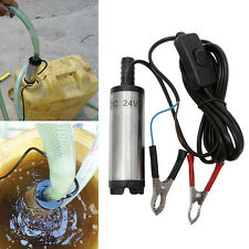 DC24V 12L PerMinute 38mm Stainless Steel Submersible Diesel Water Fuel Oil Pump