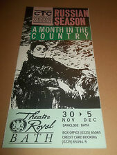 "THEATRE ROYAL BATH "" A MONTH IN THE COUNTRY "" HANDBILL / BOOKLET RUSSIAN SEASON"