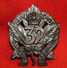 C.E.F. 32nd MANITOBA & SASKATCHEWAN REGT Collar Badge