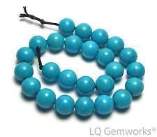 """6"""" Strand SLEEPING BEAUTY TURQUOISE 6mm Round Beads AAA NATURAL COLOR /R85"""