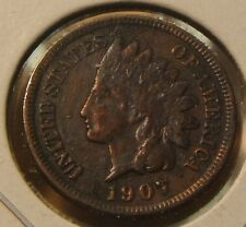Choice Au~1907~Indianhead Cent~Full Liberty~Beauty