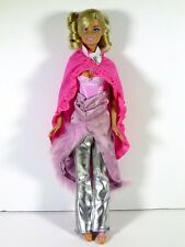 DRESSED BARBIE DOLL BALLERINA IN SILVER PANTS AND CAPE