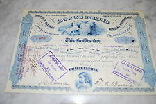 Stock Certificate - 13TH & 15TH Streets Passenger Railway Company - PA 1932