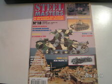 *** Revue Steel Masters n°18 M24 Chaffee / Ford V 3000 et Sherman M4A1