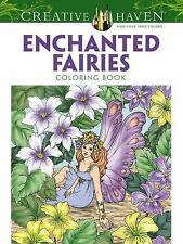 Enchanted Fairies Coloring Book Adult Dover fun-filled relaxing reduce Happy