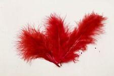 Plume de décoration x 20 rouge. Décoration de mariage