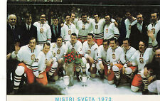 Vintage Postcard Czechoslovakia World Champion Hockey World Cup 1972