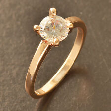 Womens Simulated Diamonds Crystal 14k Rose Gold Filled Wedding Ring Size 6 7 8