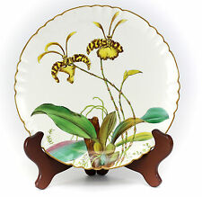 """Minton Porcelain Plate 8.25"""" #G3108, 1885 Orchids Hand Painted by William Musill"""