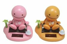 Solar Power Toy Pink & Orange Nohohon Sunny Doll on Island Beach Gift US Seller