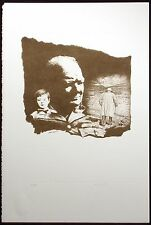 """Sarah Churchill """"I Have No Fear.."""" SIGNED EMBOSSED LITHOGRAPH Winston MAKE OFFER"""