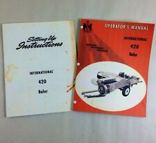 LOT INTERNATIONAL 420 BALER OPERATORS OWNERS & SETUP ASSEMBLY MANUAL SQUARE IH