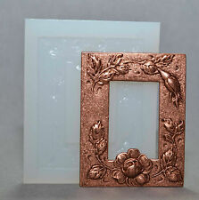 FLORAL FRAME SILICONE MOULD  sugarcraft polymer clay resin fimo mold casting