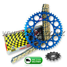 Yamaha WR250F 2001-2017 Regina ORN-6 O'Ring Chain And Blue Renthal Sprocket Kit
