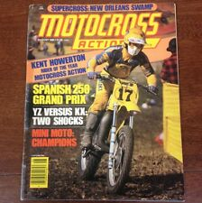 MOTOCROSS ACTION AUGUST 1980 YZ250 KX250 GRAND PRIX HOWERTON ROY VINTAGE AHRMA