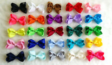 "25 PCS 3"" Baby Girl Infant  Boutique Hair Bows Clip Grosgrain Ribbon Assorted R"