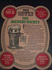 IND COOPES BURTON ALE STORY OF BEER SERIES 3 BEER MAT No8
