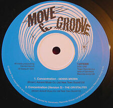 "Dennis Brown Concentration/Changing Times 10"" Roots NEW Trojan Crystalites Vers"