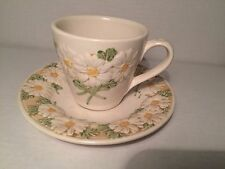 Metlox PoppyTrail Sculptured Daisy Cup and Saucer Set Vintage Dinnerware