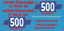 #500 Bill Rexford 1957 Chevrolet 1/64th HO Scale Slot Car Decals