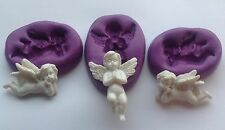 3x cherub / angel silicone mould (cupcake.shabby chic.vintage.wedding)