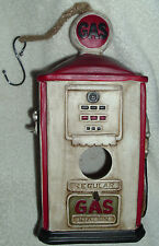 OLD TIME GAS PUMP BIRD HOUSE DECORATIVE UNIQUE GASOLINE PETROL STATION NOS NWOT