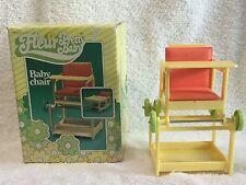 """FLEUR Pretty BABY CHAIR+cushion+BOX converts to play desk Dutch """"SINDY"""" EUC"""