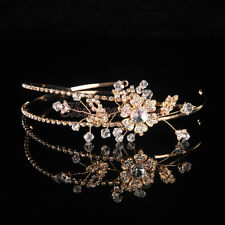 Luxury Gold Jewelry Bridal Tiara Wedding Crown Headband Veil Hair Accessory