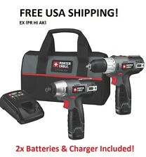 PORTER CABLE PCL212IDC-2 12V DRILL + DRIVER +CASE + 2 BATTERIES +CHARGER NEW!!