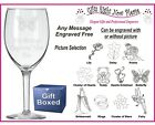 Engraved Wine Glass - Boxed God Mother - God Parent -  Birthday Gift - Present