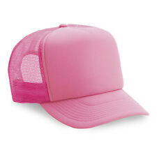 Wholesale Lot 1 Dozen / 12 Blank Foam Trucker Hats Adjustable Caps Hat Neon Pink