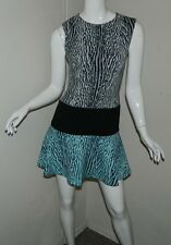 Women BCBG Max Azria Animal Print Sleeveless Cocktail Evening Party Dress Size 0