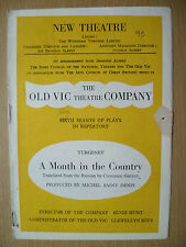 NEW THEATRE PROGRAMME 1949-A MONTH IN THE COUNTRY by Ivan Turgenev