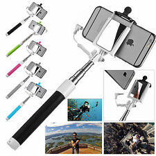 Mini Portrait Selfie Pole Handheld Stick Monopod Phone Back Camera Holder Mirror