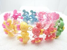 12 Pair Girls Kids Hair Ponytail Elastic Holder Band Tie