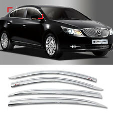 Chrome Window Sun Vent Visor Rain Guards 4P C551 For BUICK 2010-2013 Lacrosse