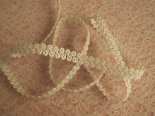 White and Iridescent Braid Trim, 3 YARDS, Favors, Costumes, Christmas Crafts
