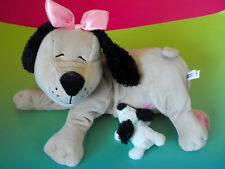 Manhattan Toy Plush Momma Dog Nursing NANA  Plush Stuffed Animal WITH PUPPY GUC