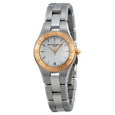 Baume and Mercier Linea Silver Dial Stainless Steel Ladies Watch 10079