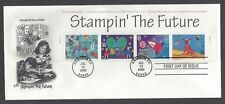 #3414-3417, First Day Cover, Stampin' The Future, with header