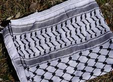 Keffiyeh - made in Palestine, 100% cotton, 110 x 110 cm, black on white