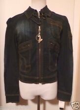 NWT BABY PHAT Embellished Denim Jean Jacket Size Small