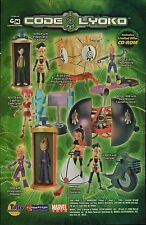 2006 Cartoon Network / Marvel Toys CODE LYOKO action figure toy print ad page