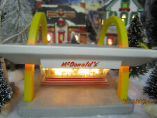 "TRAIN HOUSE GARDEN VILLAGE HO SCALE "" McDONALD's RESTAURANT ""+DEPT 56/LEMAX info"