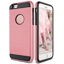 Shockproof Hybrid Rubber Brushed Slim Case Cover For iPhone 4s 5 5s SE 6 6s Plus