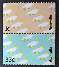 Australian Decimal Stamps:1985 Sulphur Crested Cockatoos - Set of 2 MNH